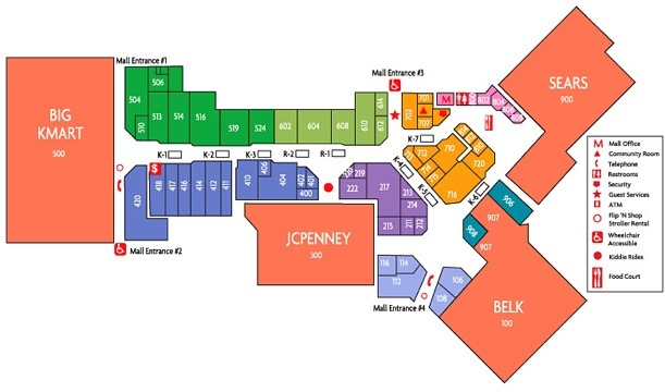 Fashion Show Directory Map Fashion Show - Fashion Show Mall 29